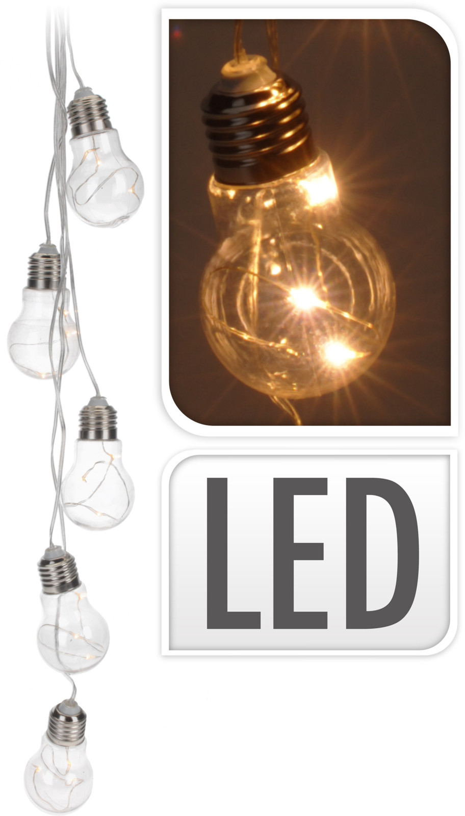 CHAIN LED CLEAR BULB
